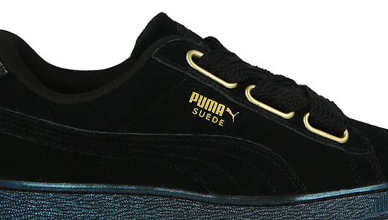 WOMEN'S SHOES PUMA SUEDE HEART SATIN 362714 03